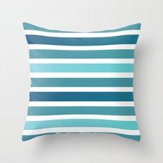 Aqua Stripes Throw Pillow