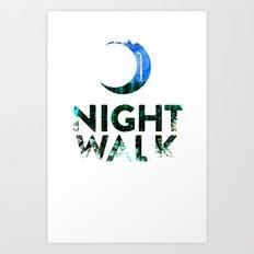 Night Walk (alt) Art Print