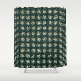 Gold dots on dark green - soft pastel Shower Curtain