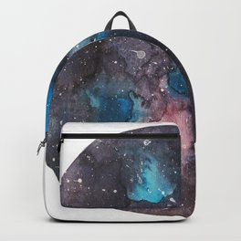 Galaxy round shape with stars Backpack