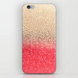 GOLD CORAL iPhone Skin