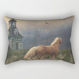 Across the sands Rectangular Pillow