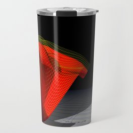 Waved red surface Travel Mug