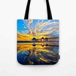Sunset ~ Huntington Beach Pier CA  11/7/13 Tote Bag