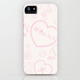 Girl and Kawaii Animals iPhone Case