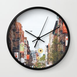 Mulberry Street Little Italy Wall Clock