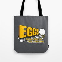 eggs Tote Bags featuring Eggs! by Boots