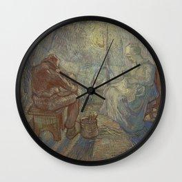 Evening (after Millet) Wall Clock