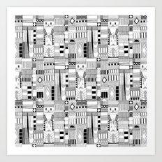MOG black white Art Print