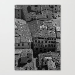 View From Up Top of the Duomo of Florence Canvas Print