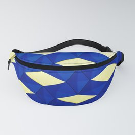 Trapez 2/5 Blue & Yellow by Brian Vegas Fanny Pack