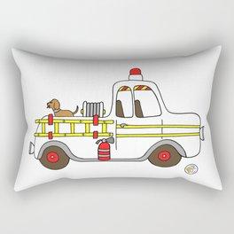 vintage firetruck Rectangular Pillow
