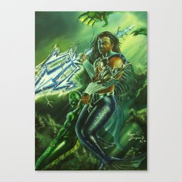 Warrior of the Deep Canvas Print