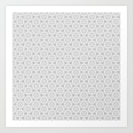 Color Me Black and White pattern Art Print