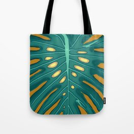 Monstera Flying to Autumn 2 Tote Bag