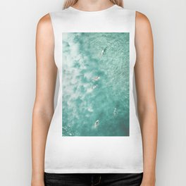 Surfing in the Ocean Biker Tank