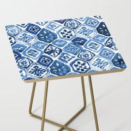 Arabesque tile art Side Table