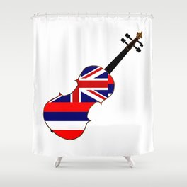 Hawaii State Fiddle Shower Curtain