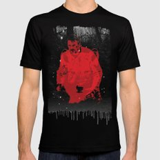 Once more into the fray Black Mens Fitted Tee LARGE