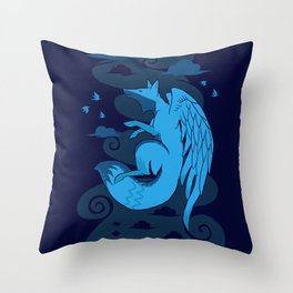 The Flying Fox's First Flight Throw Pillow