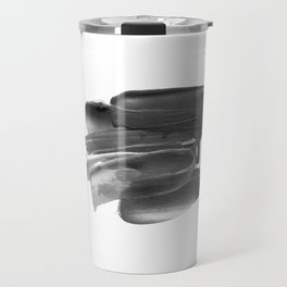 Lipstick Smudge black and white abstract painting poster design home wall art bedroom decor Travel Mug