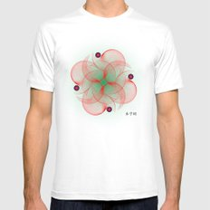 Fleuron Composition No. 137 White Mens Fitted Tee MEDIUM