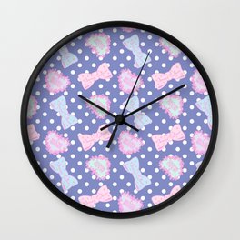 Pretty Baby Brand Whore Allover Pastel Violet Wall Clock