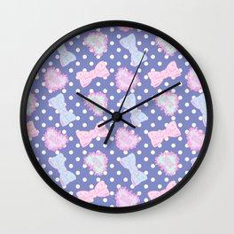 Pretty Baby Brand Whore Allover Pastel Violet Wall Clock
