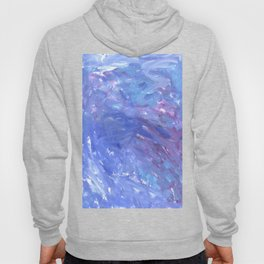 Soft Blue Purple Abstract Painting Hoody