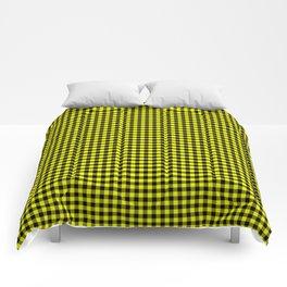 Mini Black and Bright Yellow Cowboy Buffalo Check Comforters