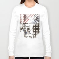 flag Long Sleeve T-shirts featuring FLAG by TOO MANY GRAPHIX