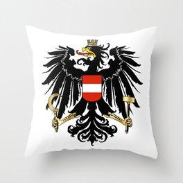 Austrian Coat of Arms Throw Pillow