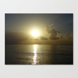 seaside sunrise Canvas Print