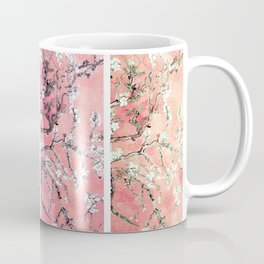 Van Gogh Almond Blossoms Deep Pink to Peach Collage Coffee Mug
