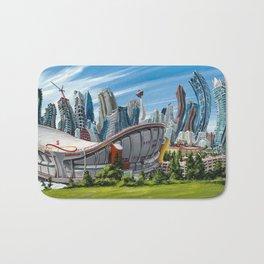 Downtown Calgary Skyline Bath Mat