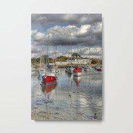 Hill Head Harbour Metal Print