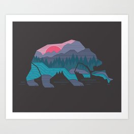 Bear Country Art Print