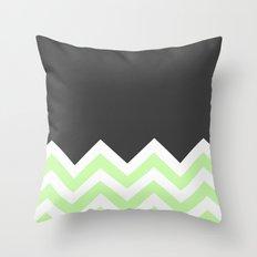 Color Blocked Chevron 15 Throw Pillow