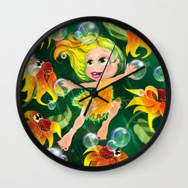 Maria Through The Year - AUGUST Wall Clock