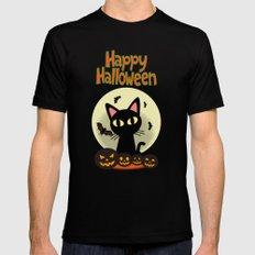 Happy Halloween 2 Black Mens Fitted Tee MEDIUM