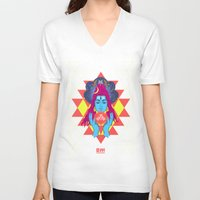 om V-neck T-shirts featuring Om by RJ Artworks