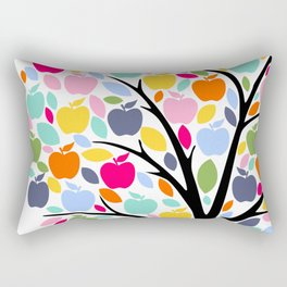 Teachers plant the seeds of knowledge Rainbow apple Tree Rectangular Pillow
