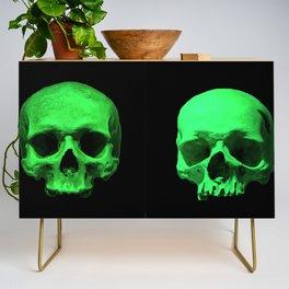 Skull quartet green Credenza