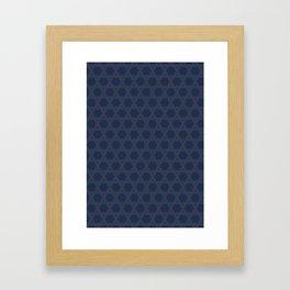 "tenugui""kagome"" Framed Art Print"