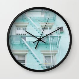Blue in NYC Wall Clock