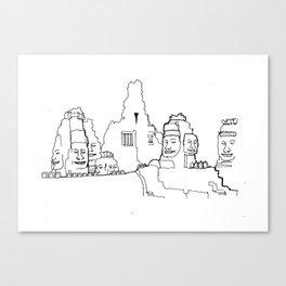 Bayon temple, Angkor Wat, Cambodia _ A4/A5 _ Illustration _ Drawing _ Travel _ City _ Asian _ Wall D Canvas Print