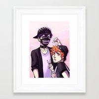 haikyuu Framed Art Prints featuring Haikyuu!! / Fashion by Tikkilanka