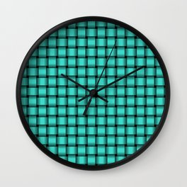 Small Turquoise Weave Wall Clock