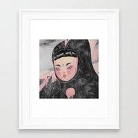 loll3 Framed Art Prints featuring CuteZilla by lOll3