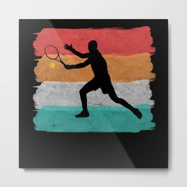 Tennis Player Metal Print
